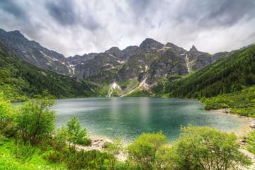 Eye of the Sea lake in Tatra mountains, Poland