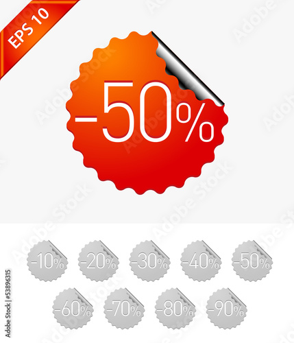 Sale stickers: -50%