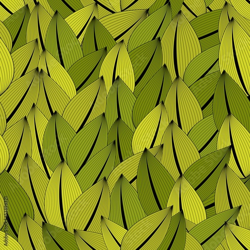 Flower leaves seamless pattern