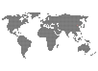 Pixelweltkarte mit Markierung von Peking