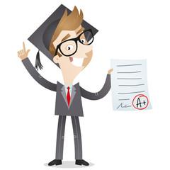 Businessman, graduation, A+, education, promotion