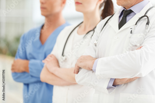 Only professional medical assistance. Cropped image of successfu