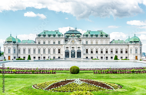Day view of the Upper Belvedere in Vienna, Austria