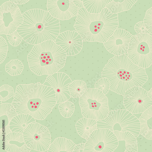 Vector floral pattern with birds