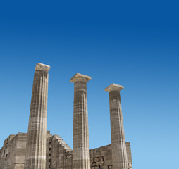 Ancient Greek temple columns