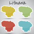stickers in form of Lithuania