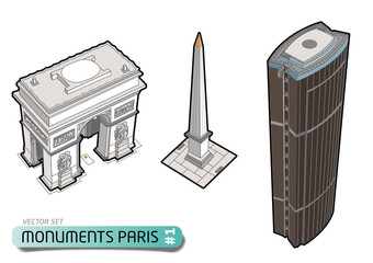 PARIS TOURISME - Monuments - Set 1