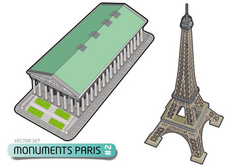 PARIS TOURISME - Monuments - Set 2