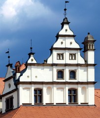 Decorative medieval rooftop