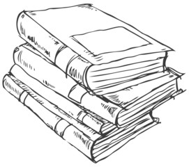 Stack of books doodle