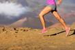 Running sport fitness woman - closeup