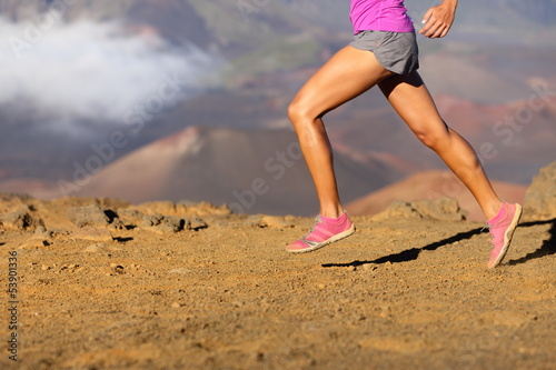 Running sport fitness woman - closeup