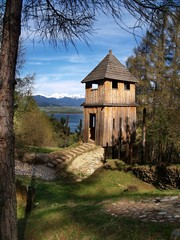 Ancient wooden fortification