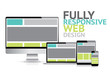 ully responsive web design concept, electronic devices vector