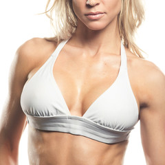 Female Fitness Model's Chest