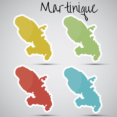 stickers in form of Martinique