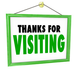 Thanks for Visiting Hanging Store Sign Customer Appreciation
