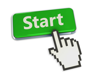 cursor pressing Start button