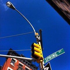 traffic light on spring street