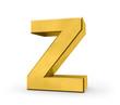 letter in gold - Z