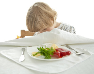Healthy eating for a playful little girl