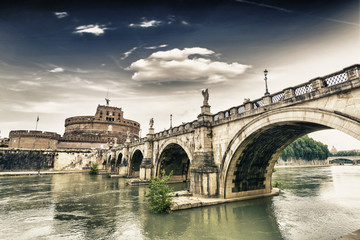 Castel Sant'Angelo and its bridge.