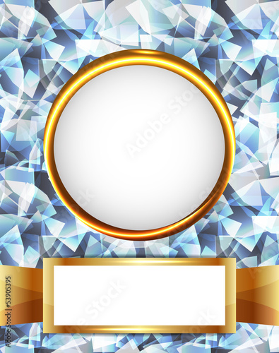 Royal diamond golden frame