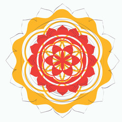 floral sacred geometry lotus