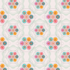 flower of life seamless pattern