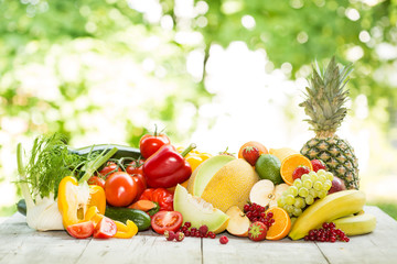 Gemischtes Obst und Gemüse