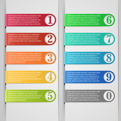 Modern number list infographic banner