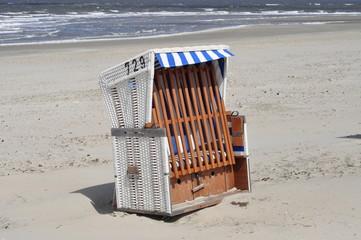 Strandkorb am Nordseestrand