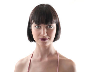 brunette woman