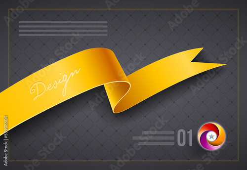 Ribbon cover design template