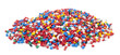 Leinwandbild Motiv colorful plastic polymer granules on white background