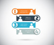Four social media banners vector eps