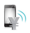 yen currency management on a mobile phone