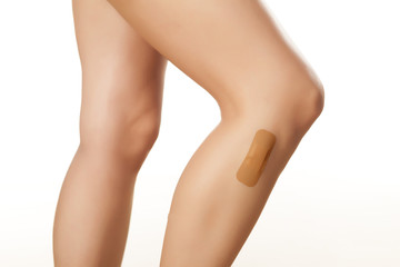 adhesive bandage because of a problem with waxing