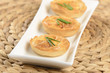 little quiche with cheese and chive