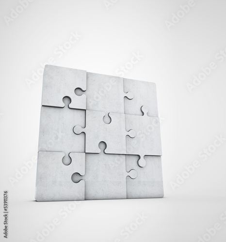 blank jigsaw puzzle made of stone