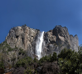 Bridal Veil Falls and the El Capitan cliff face
