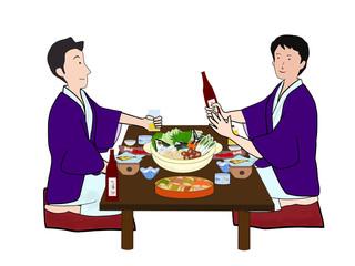 鍋料理で飲み会
