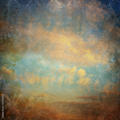 Vintage background with clouds in the sky - 53912550