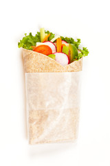 Wrapped tortilla sandwich