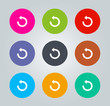 Undo - Metro clear circular Icons