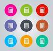 Calculator - Metro clear circular Icons