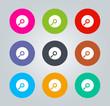 CD - Metro clear circular Icons