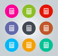 Calculator - Metro clear circular Icons