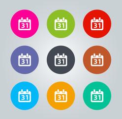 Calendar - Metro clear circular Icons