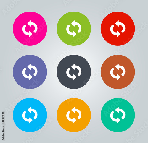 Refresh - Metro clear circular Icons
